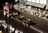 Horses Pulling Band Organ Wagon in Parade