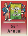 1992 Gamma Phi Circus program (56th annual)