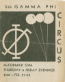 1936 Gamma Phi Circus program (5th annual)